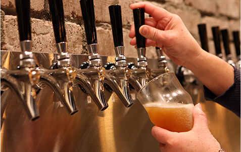 Over 30 tap handles of crafted beer and cider.