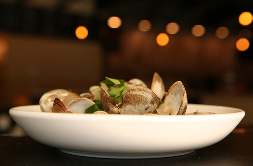 The Local 104's plate of clams.